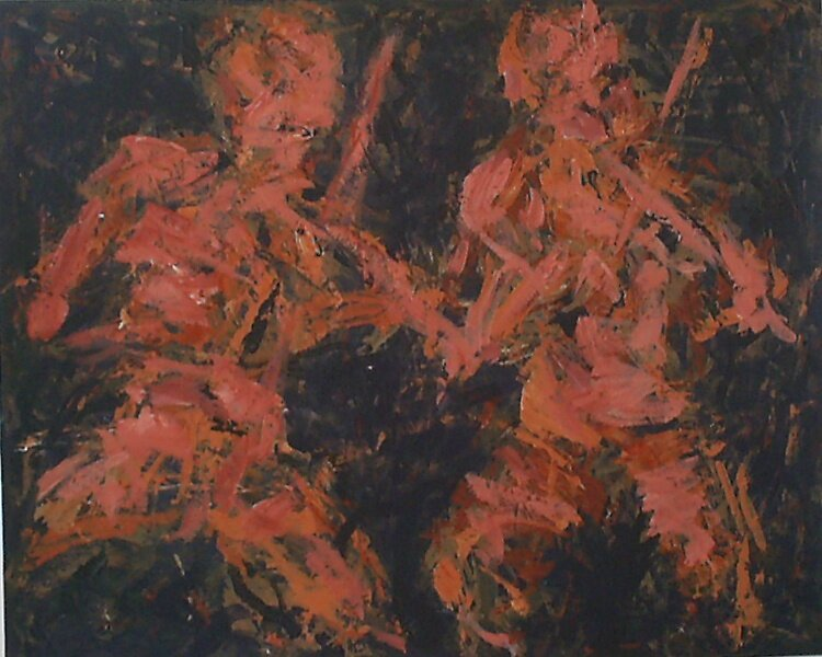 Two Fiddle Players by Tom O'Rourke