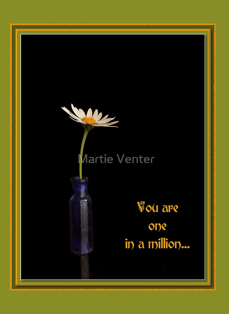 You Are One in A Million Card by Martie Venter