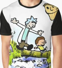Rick and Morty Calvin and Hobbes Graphic T-Shirt