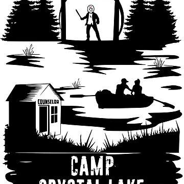 Camp Crystal Lake T-Shirt Horror Movie Shirt Camping Shirts by lastearth