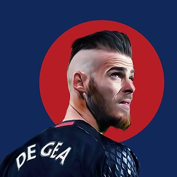 De Gea digital Painting Red Circle by UNITEEDS