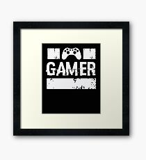 Gamer - Video Game Player Gaming  Framed Print