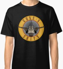 Guns and Ships - Guns and Roses Classic T-Shirt