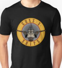 Guns and Ships - Guns and Roses Unisex T-Shirt