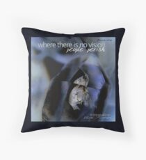 Indigo Quartz Crystal © Vicki Ferrari Throw Pillow