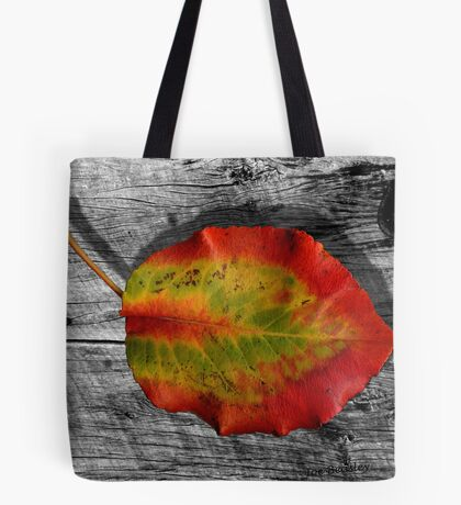 Leaf on Barnwood Tote Bag