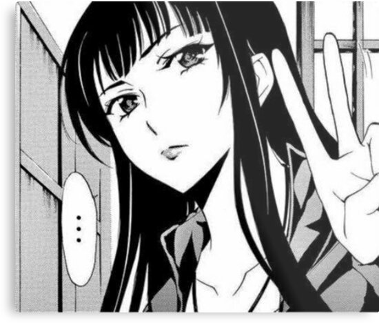 Manga Girl Peace Sign Metal Prints By Jiggymiggy Redbubble