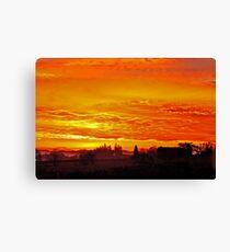 Sunrise over Oregon Canvas Print