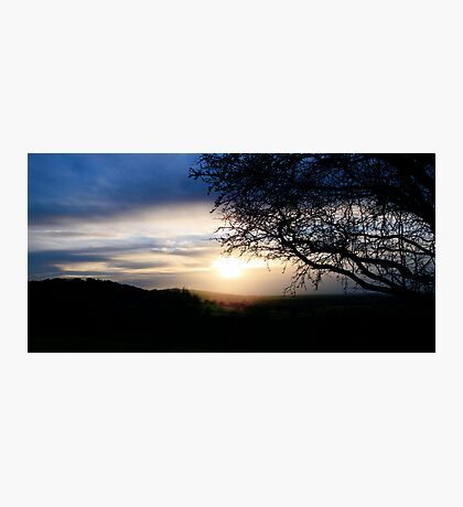Sunset over Mow Cop Photographic Print