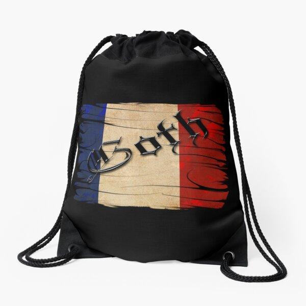 French Flag Drawstring Bag