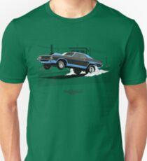 Dodge Challenger dragster (black/blue) Unisex T-Shirt