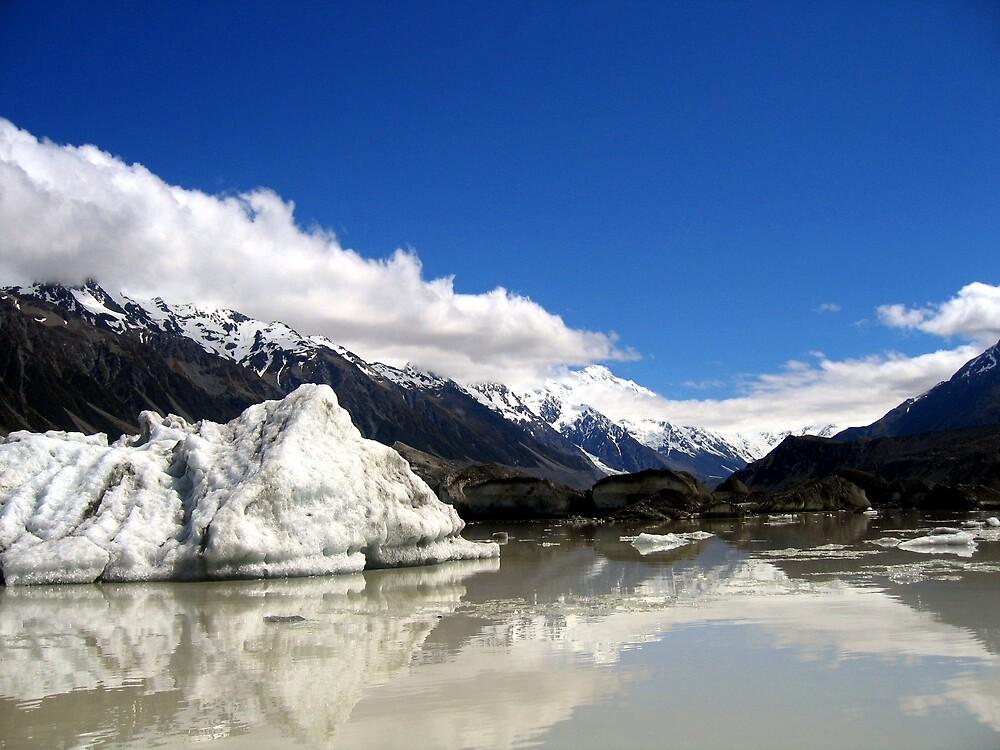 fox glacier lake by david stevenson