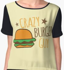 Crazy Burger guy Chiffon Top