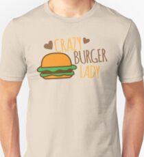 Crazy Burger Lady Unisex T-Shirt