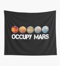 elon musk occupy mars Wall Tapestry