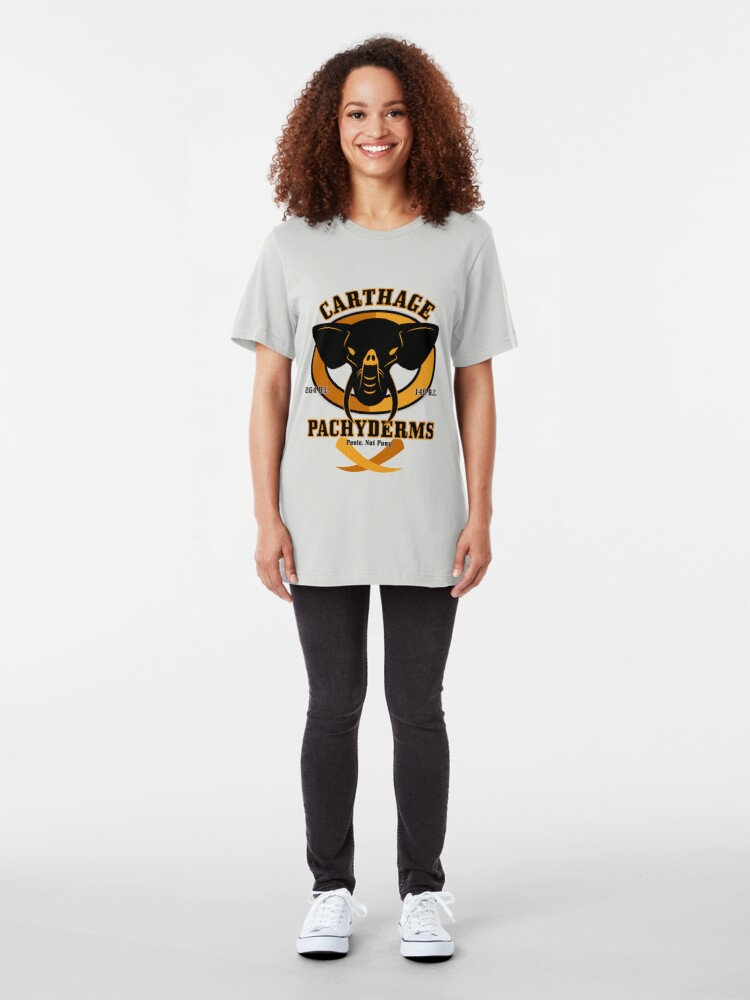 Alternate view of Carthage Pachyderms Slim Fit T-Shirt