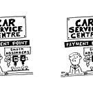 Car Servicing Centre Has Different Shock-Absorbers by Nigel Sutherland