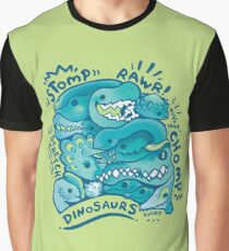 Dino Squad in Green  Graphic T-Shirt