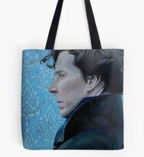 Sherlock Holmes Acrylic Painting Tote Bag