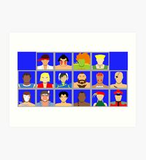 Select Your Character - Street Fighter 2: The New Challengers Art Print