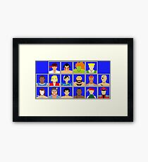 Select Your Character - Street Fighter 2: The New Challengers Framed Print