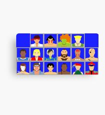 Select Your Character - Street Fighter 2: The New Challengers Canvas Print