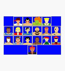 Select Your Character - Super Street Fighter 2 Turbo Photographic Print