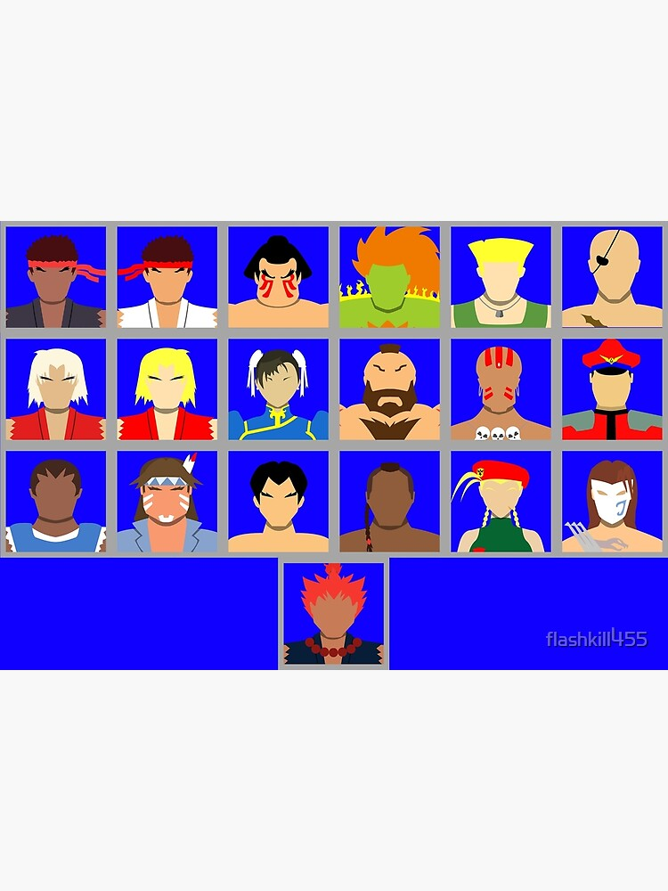 Select Your Character Ultra Street Fighter 2 Greeting Card By