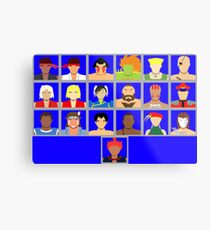 Select Your Character - Ultra Street Fighter 2 Metal Print