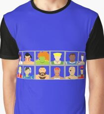 Select Your Character - Street Fighter 2 Champion Edition Graphic T-Shirt