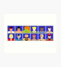 Select Your Character - Street Fighter 2 Champion Edition Art Print