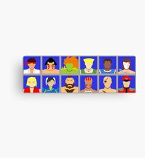 Select Your Character - Street Fighter 2 Champion Edition Canvas Print