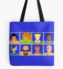Select Your Character - Street Fighter 2 Champion Edition Tote Bag