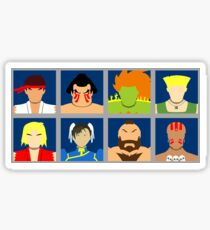 Select Your Character - SF2 Sticker