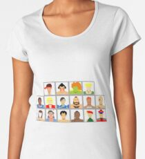 Select Your Character - Street Fighter 2: The New Challengers Women's Premium T-Shirt
