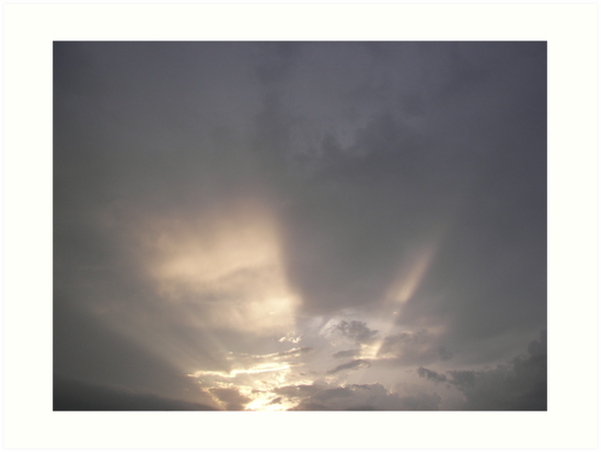 Sun rays on the clouds by TammyFulton76
