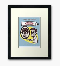Dr. Jekyll's Toothpastes! Framed Print