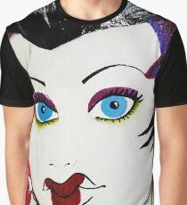 Geisha Graffiti Street Art Graphic T-Shirt