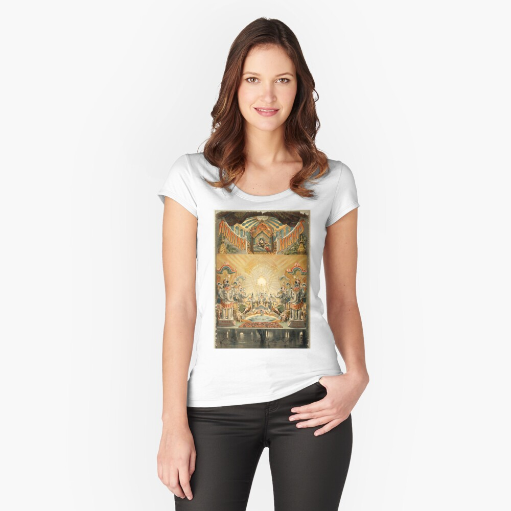 Arabian nights - Courier - 1888 Women's Fitted Scoop T-Shirt Front