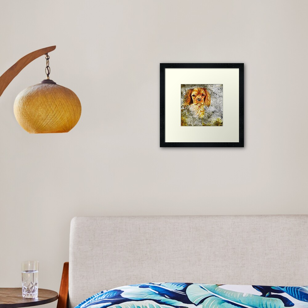King Charles Spaniel Framed Art Print