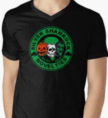 Silver shamrock Men's V-Neck T-Shirt