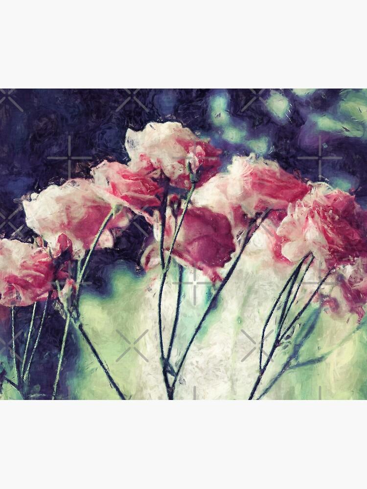 Pink Rose Flowers by perkinsdesigns
