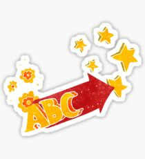 retro cartoon ABC symbol Sticker