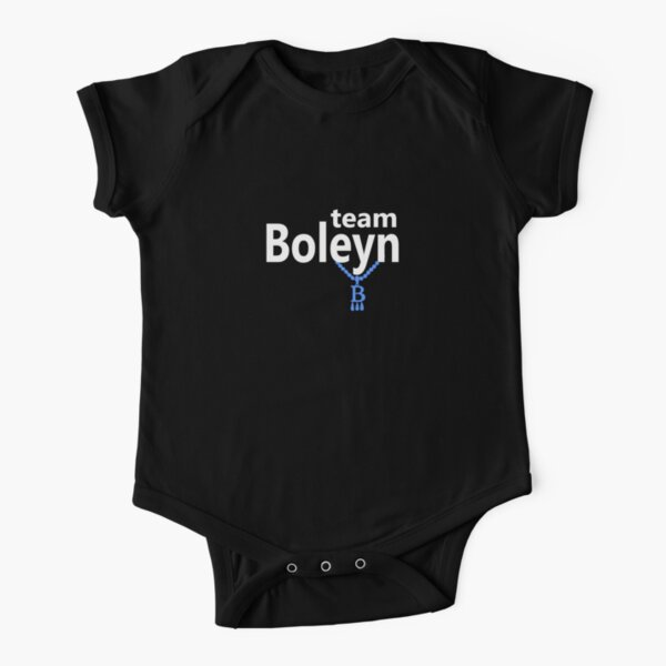 Team Boleyn on black Short Sleeve Baby One-Piece