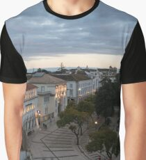 Gentle Dusk in Faro Portugal Graphic T-Shirt