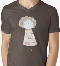 Curly hair, flowery dress T-Shirt