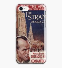 Sherlock Holmes  - The Strand Magazine Cover - Vintage Print iPhone Case/Skin