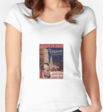 Sherlock Holmes  - The Strand Magazine Cover - Vintage Print Women's Fitted Scoop T-Shirt