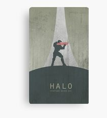 Halo Master Chief Game Poster Canvas Print