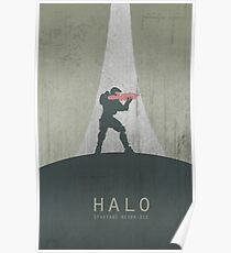 Halo Master Chief Game Poster Poster